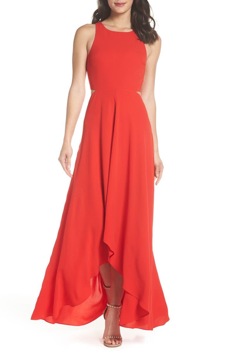ALI & JAY Cutout Maxi Dress, Main, color, RED