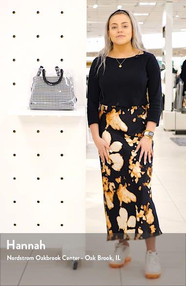 Seanna Clear Gingham Tote Bag, sales video thumbnail