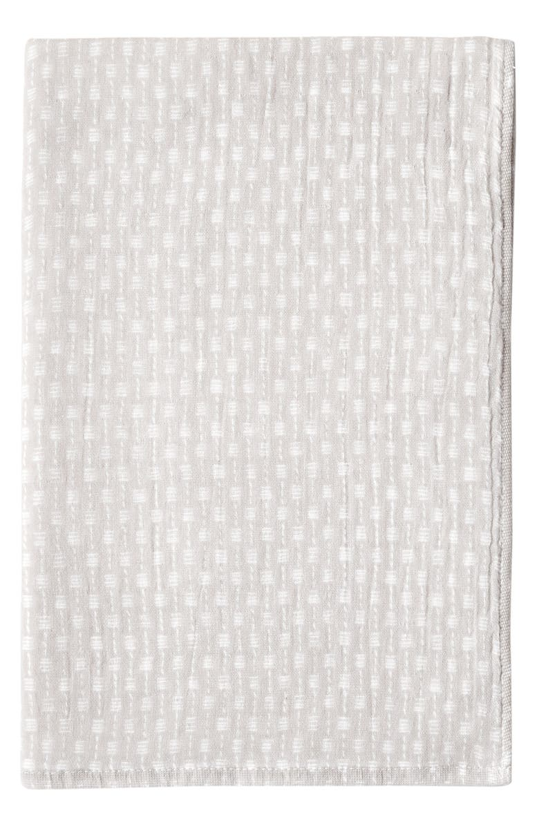 UCHINO Wicker Print Waffle & Pile Hand Towel, Main, color, LINEN