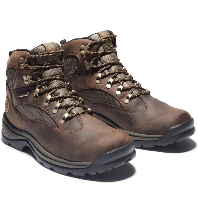 TIMBERLAND Chocorua Trail Mid Waterproof Hiking Boot, Main, color, MEDIUM BROWN FULL GRAIN