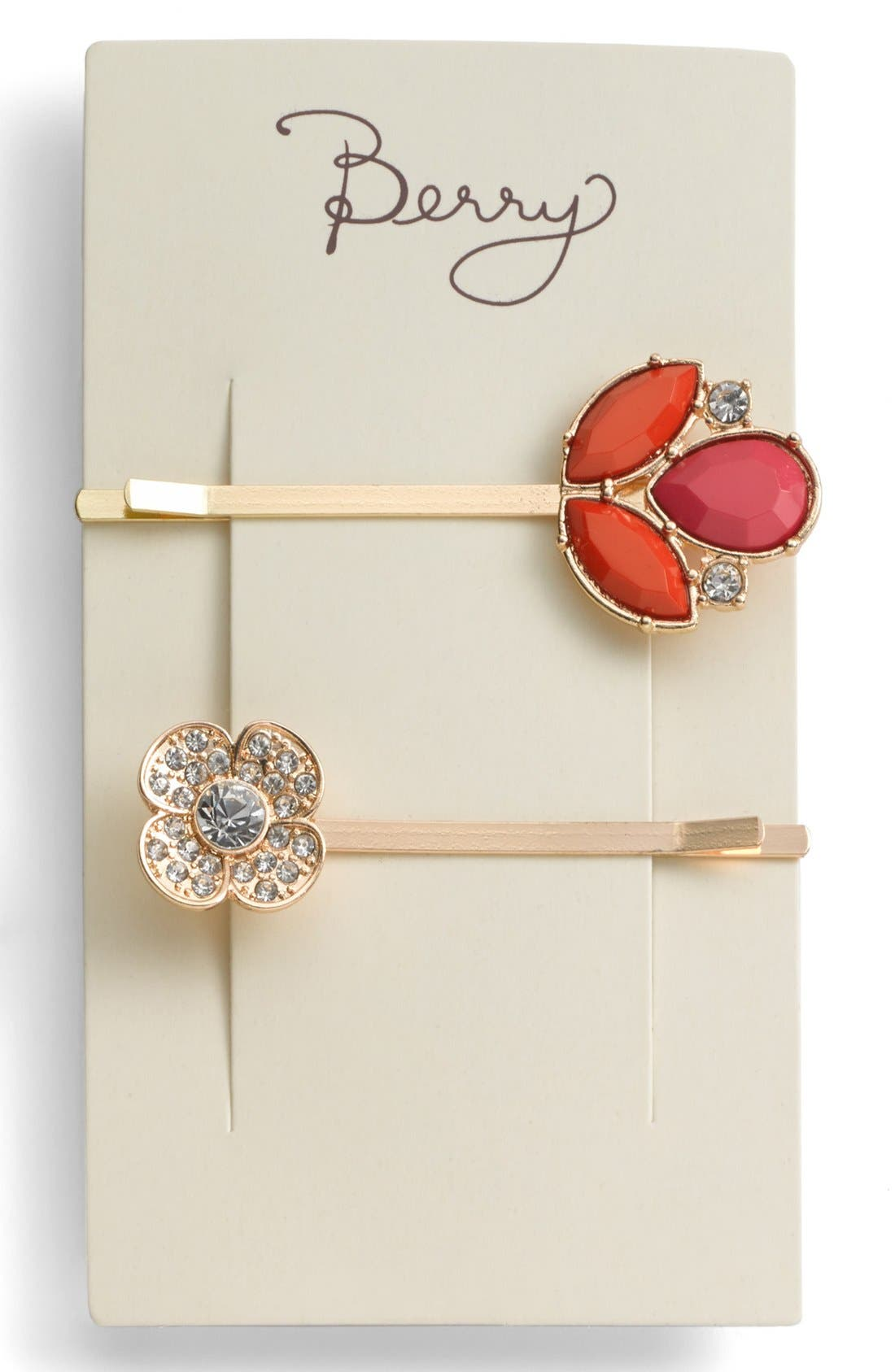 ,                             'Jeweled Leaf' Bobby Pins,                             Alternate thumbnail 2, color,                             600
