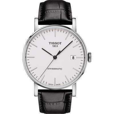 Tissot Everytime Swissmatic Leather Strap Watch, 40Mm