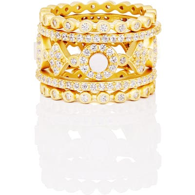 Freida Rothman Signature Mother Of Pearl Stackable Rings