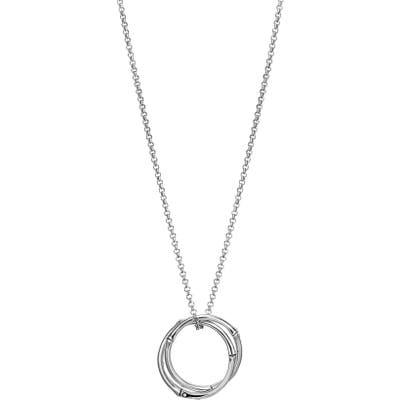 John Hardy Bamboo Circle Pendant Necklace