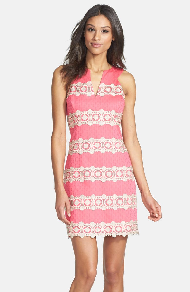 3581c452f93804 Lilly Pulitzer® 'Augusta' Lace Stripe Jacquard Shift Dress | Nordstrom
