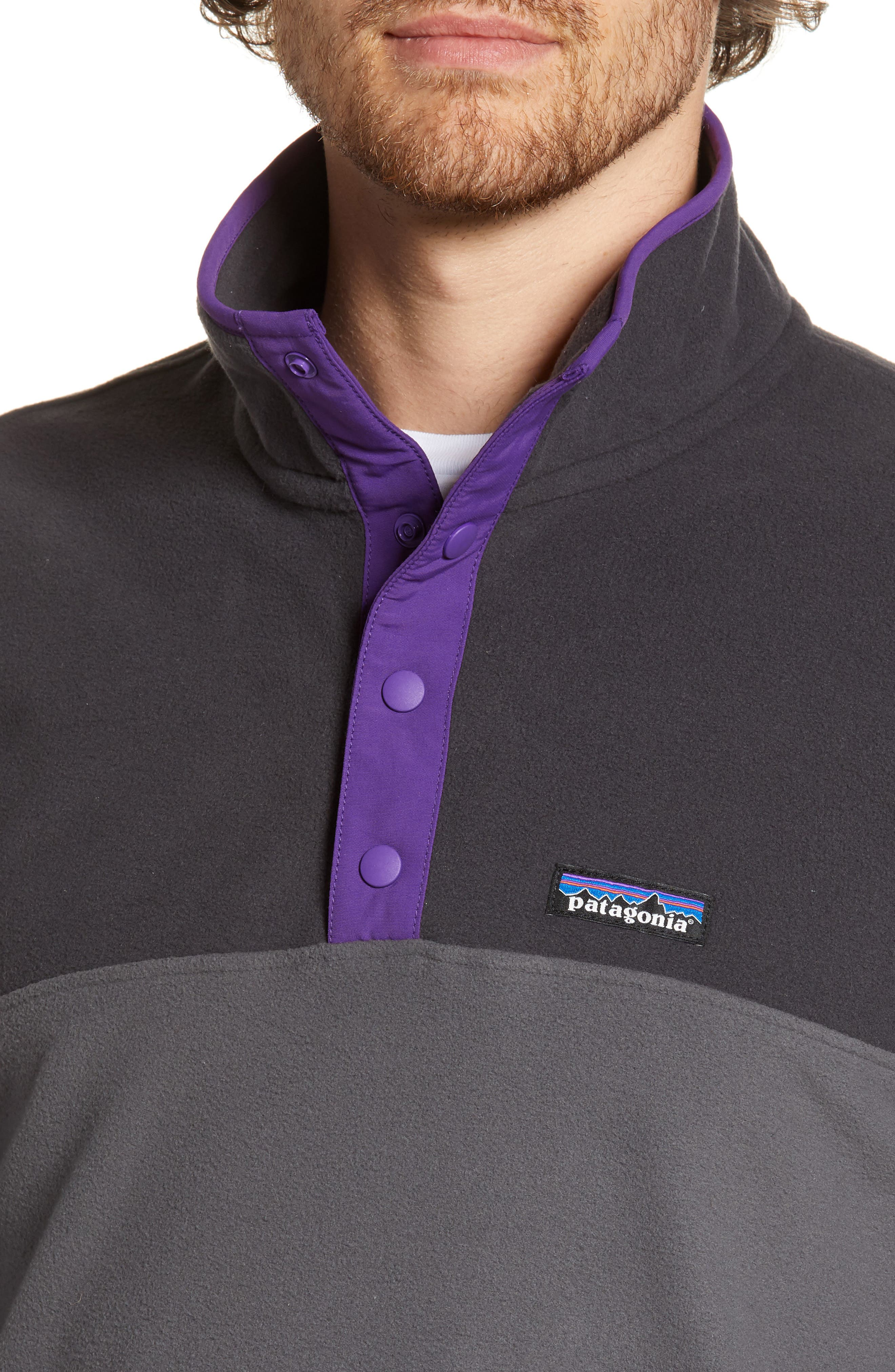 ,                             Micro-D<sup>®</sup> Snap-T<sup>®</sup> Fleece Pullover,                             Alternate thumbnail 5, color,                             FORGE GREY