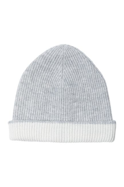 Image of AMICALE Cashmere Double Layer Knit Cuff Hat