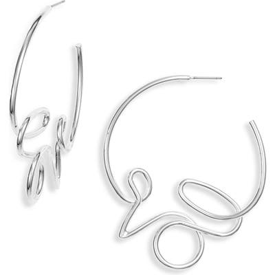 Jenny Bird Love Hoop Earrings