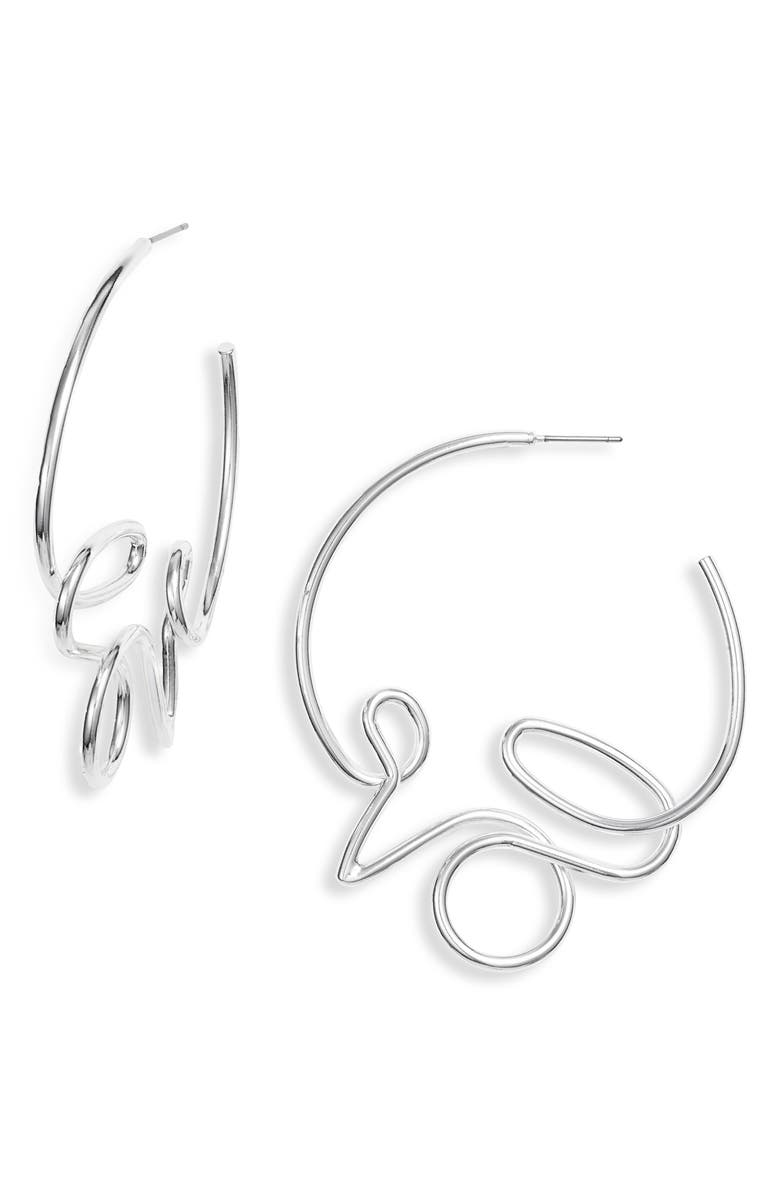 JENNY BIRD Love Hoop Earrings, Main, color, 040