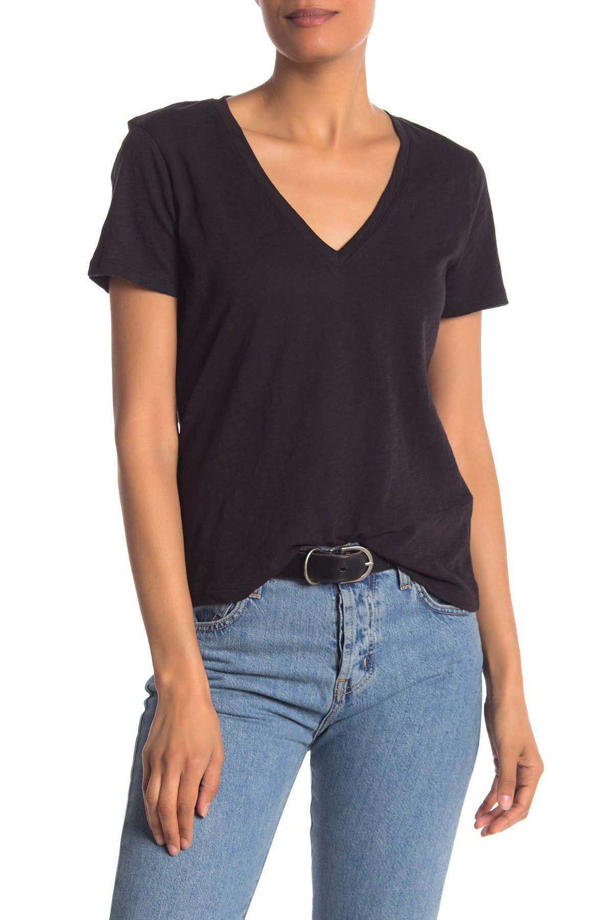 Image of Madewell V-Neck Short Sleeve T-Shirt