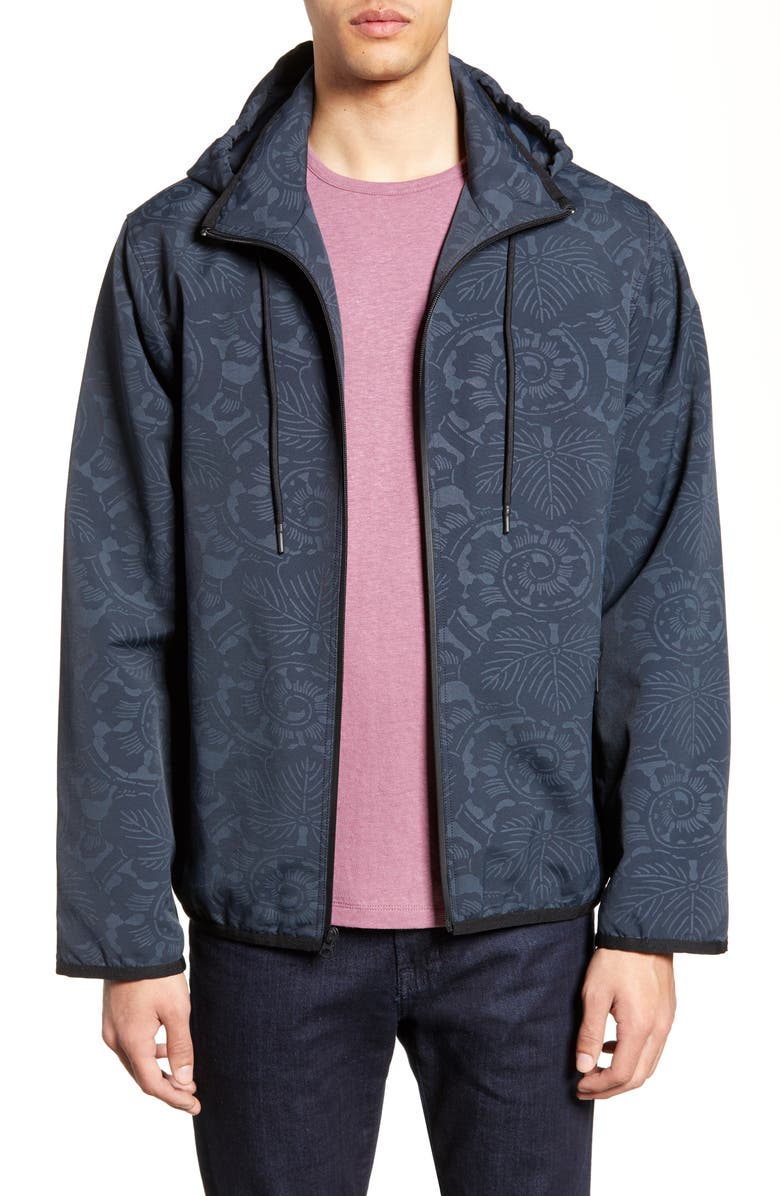 VINCE Print Hooded Jacket, Main, color, 403