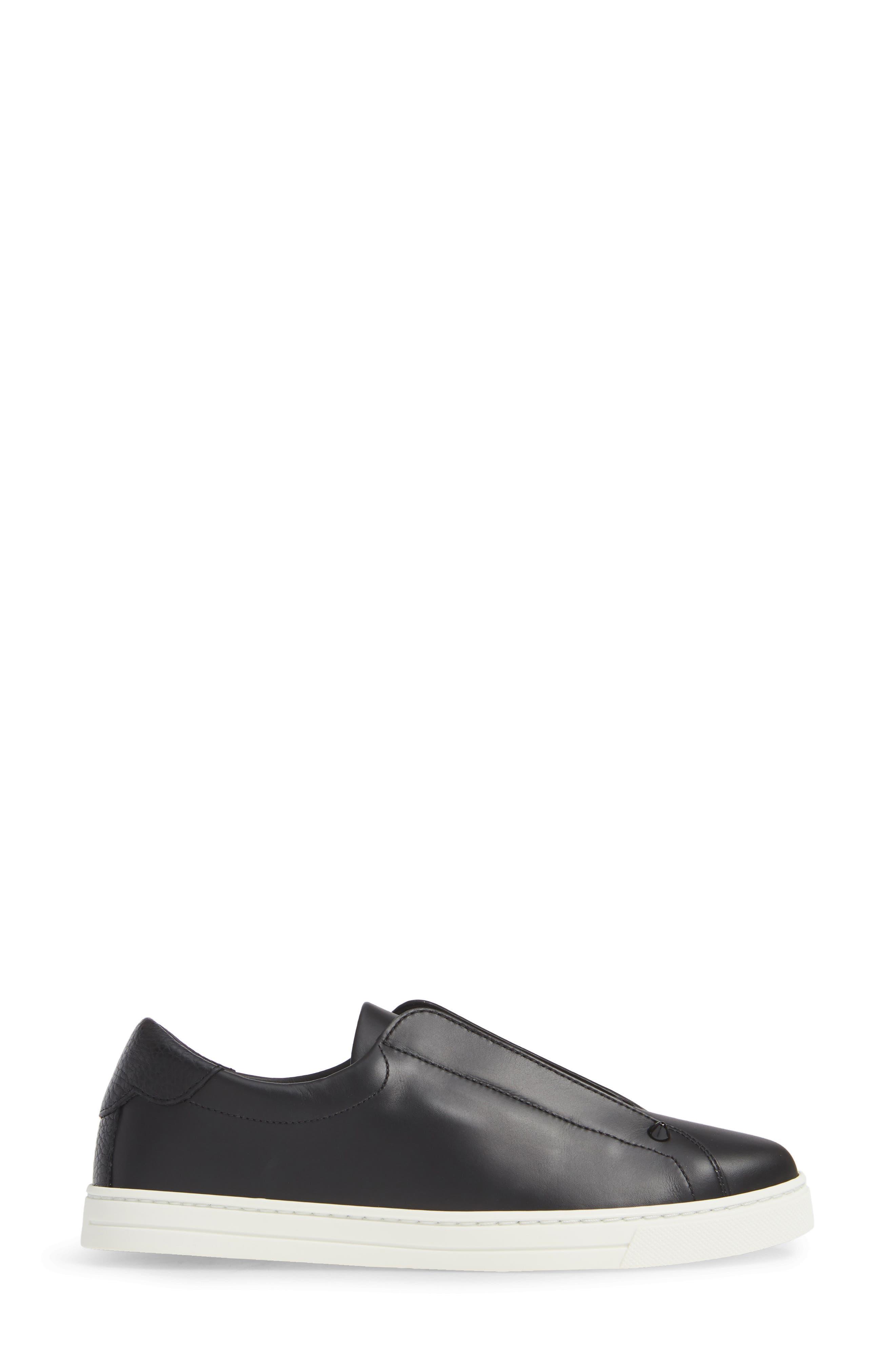 ,                             Rockoclick Knit Logo Slip-On Sneaker,                             Alternate thumbnail 3, color,                             BLACK