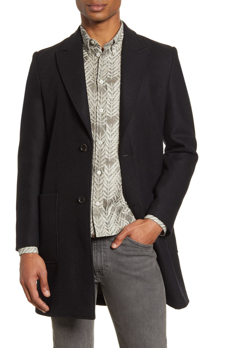 BILLY REID Gregory Wool Coat, Main, color, 001