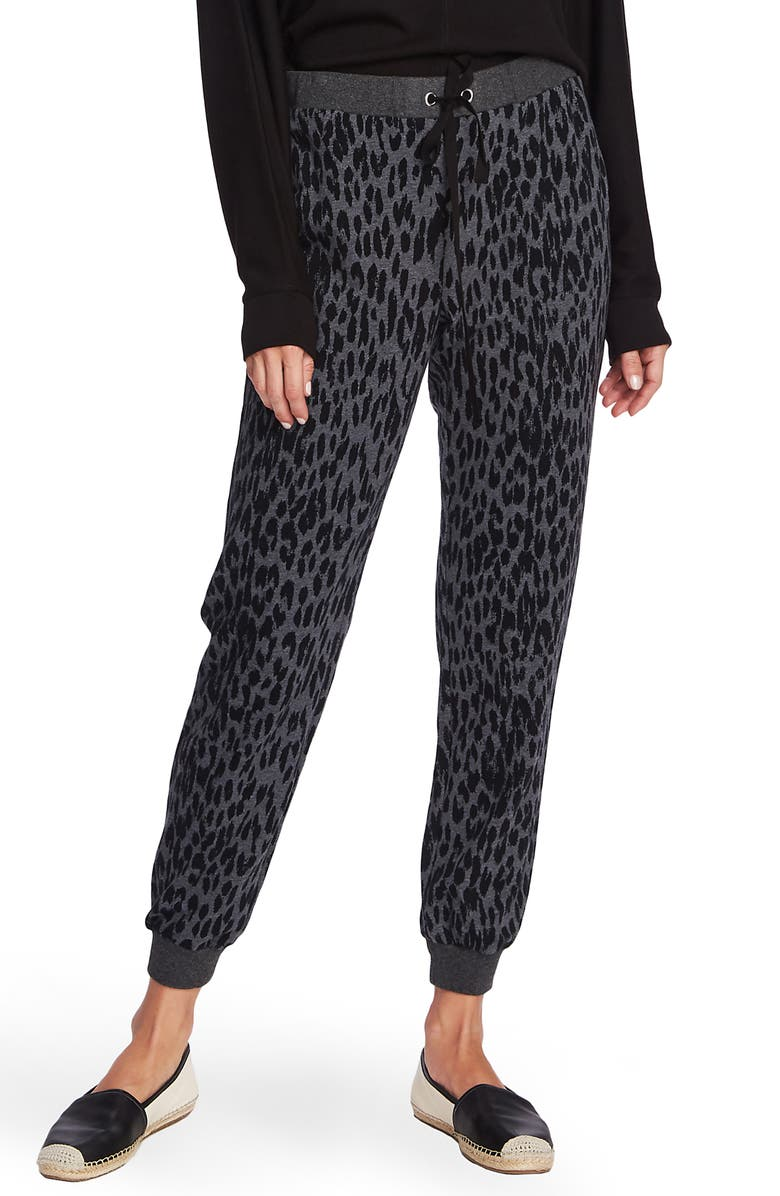 VINCE CAMUTO Animal Notes French Terry Joggers, Main, color, MED HEATHER GREY