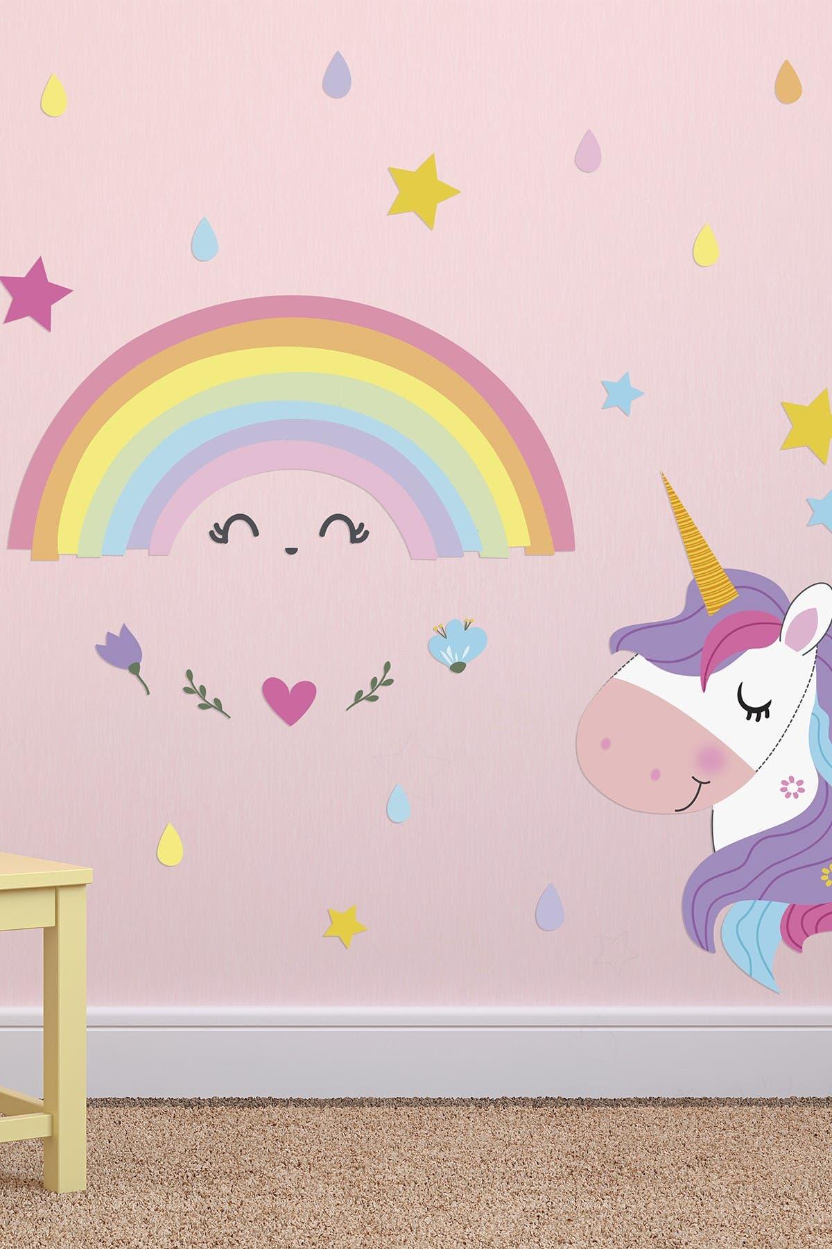 Image of WalPlus Magical Unicorn Rainbow Wall Stickers