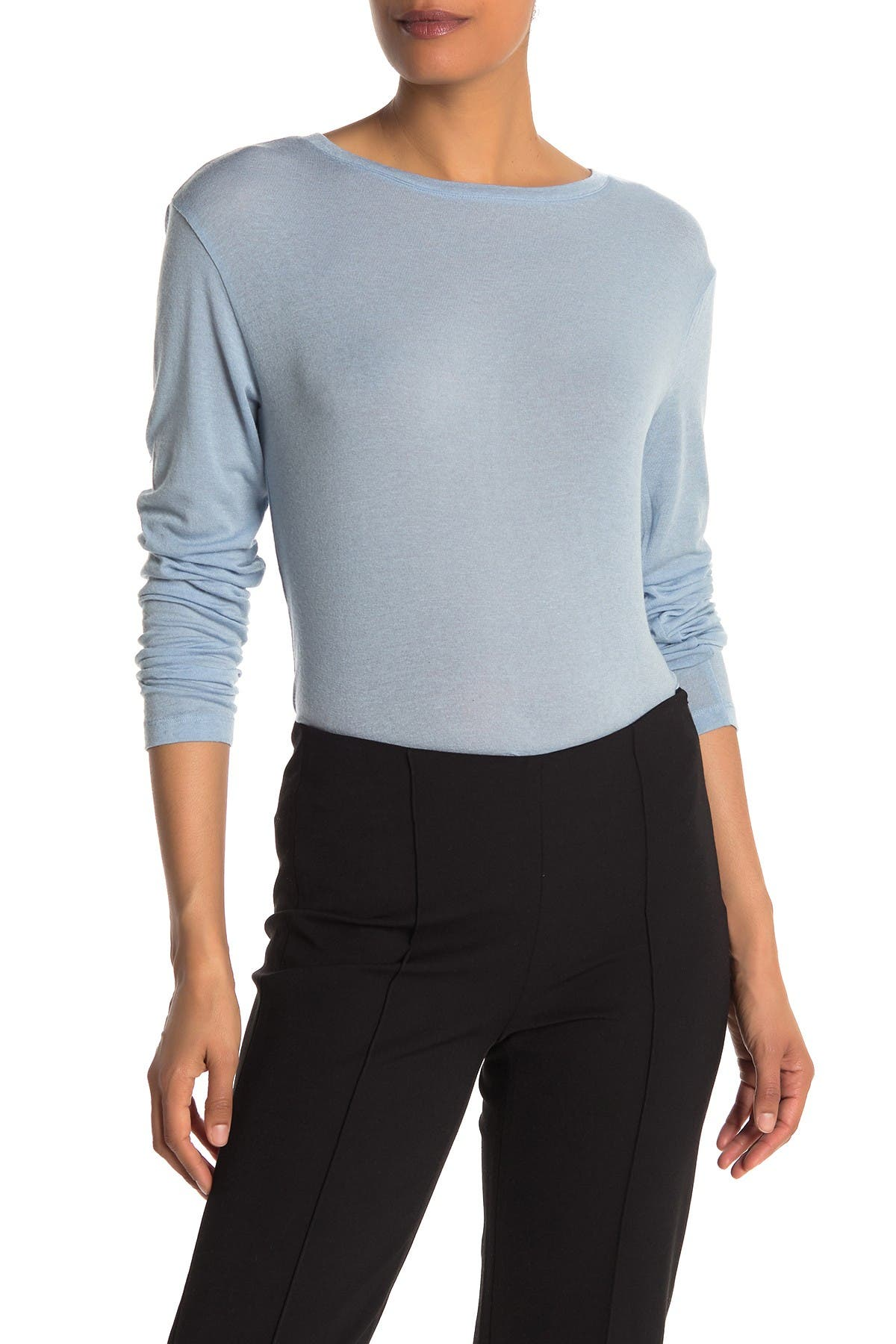 Image of Vince Crew Neck Long Sleeve Knit Top