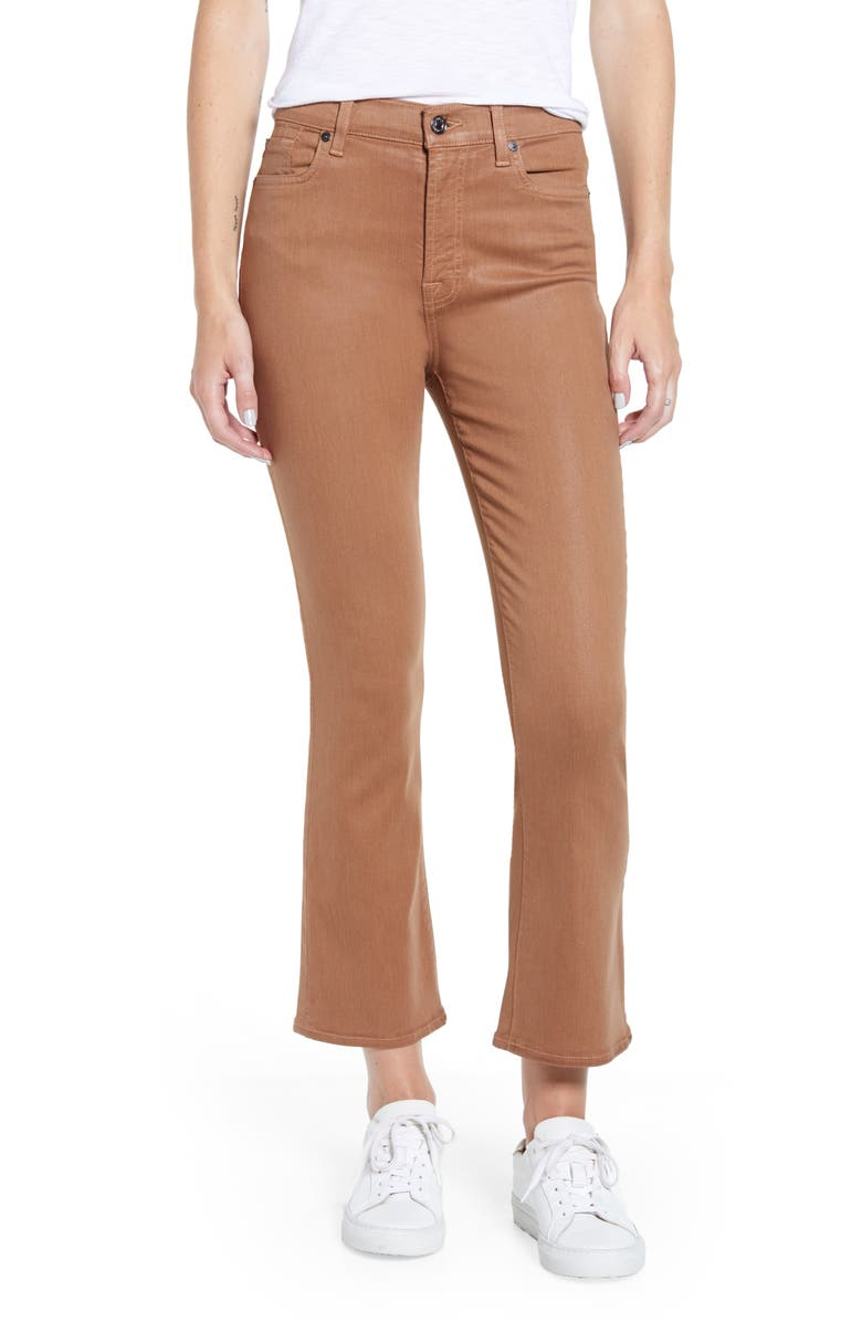 7 FOR ALL MANKIND<SUP>®</SUP> Slim High Waist Ankle Kick Jeans, Main, color, COATED PENNY