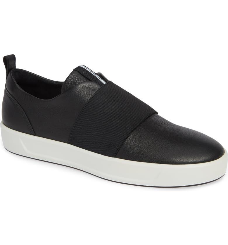 ECCO Soft 8 Band Low Sneaker, Main, color, 001