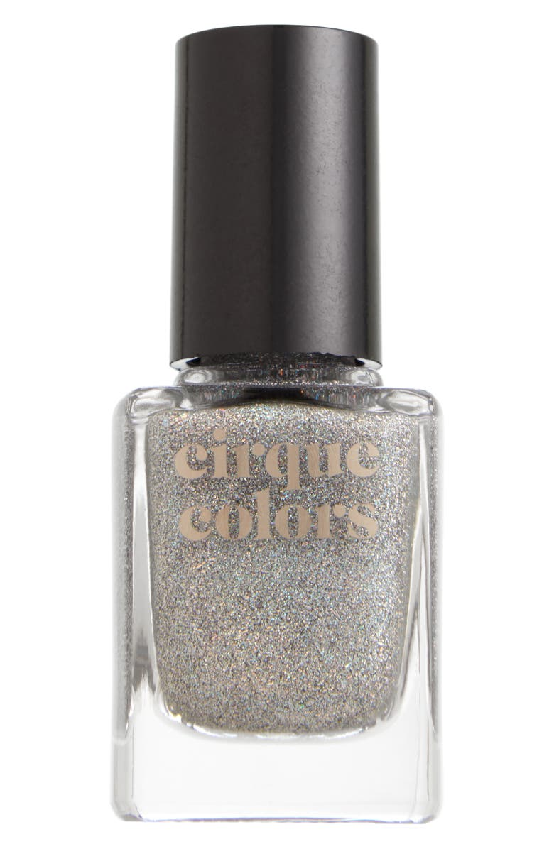 CIRQUE COLORS Crushed Ice Holographic Nail Polish, Main, color, SILVER