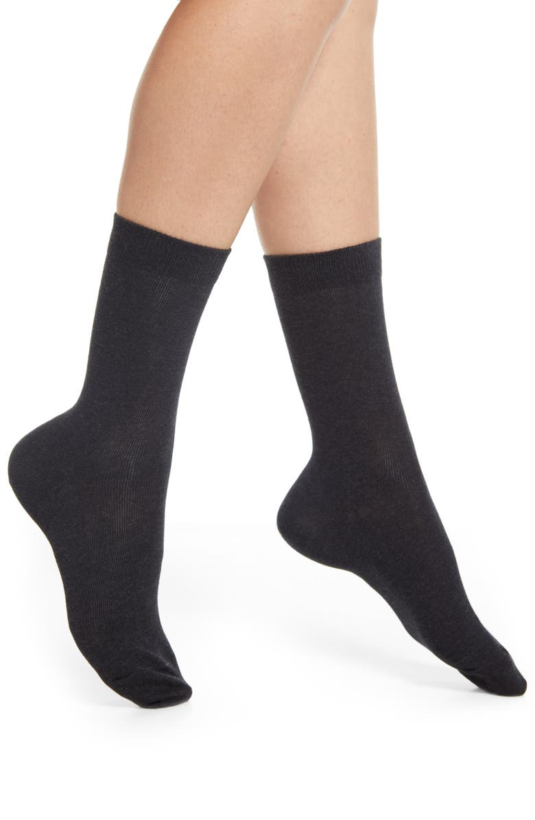 FALKE Family Crew Socks, Main, color, 3089 ANTHRICITE