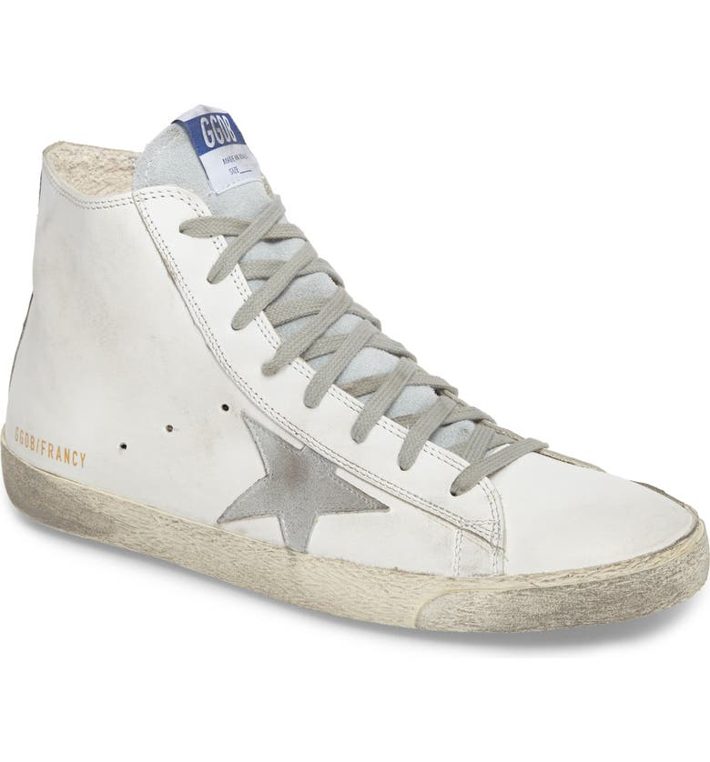 GOLDEN GOOSE Francy High Top Sneaker, Main, color, 100