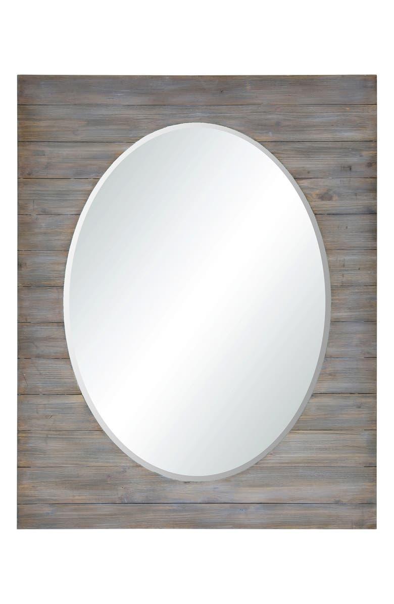 RENWIL Keenan Oval Mirror, Main, color, METALLIC SILVER