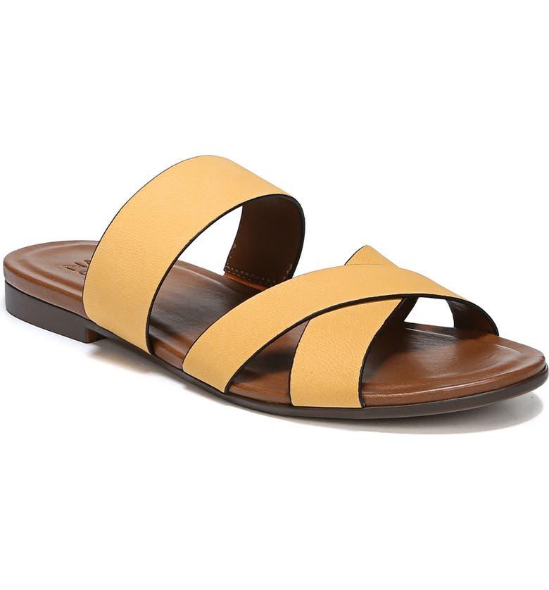 NATURALIZER Treasure Slide Sandal, Main, color, TUSCAN YELLOW NUBUCK LEATHER