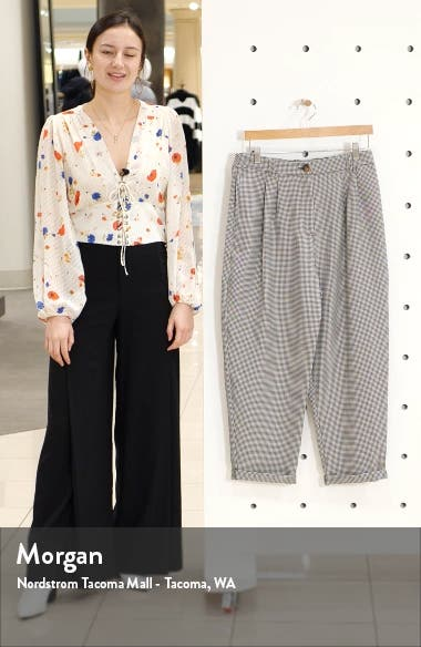 Houndstooth Crop Trousers, sales video thumbnail