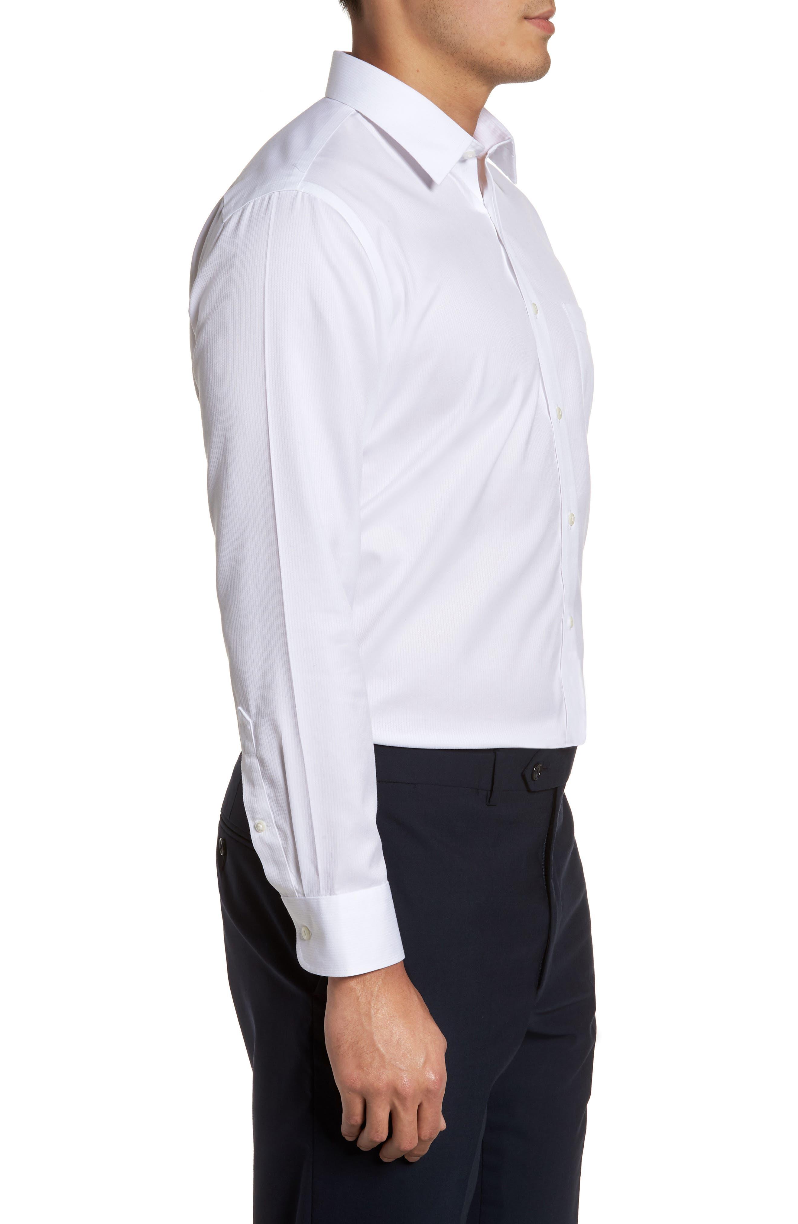 ,                             Smartcare<sup>™</sup> Trim Fit Dress Shirt,                             Alternate thumbnail 4, color,                             WHITE