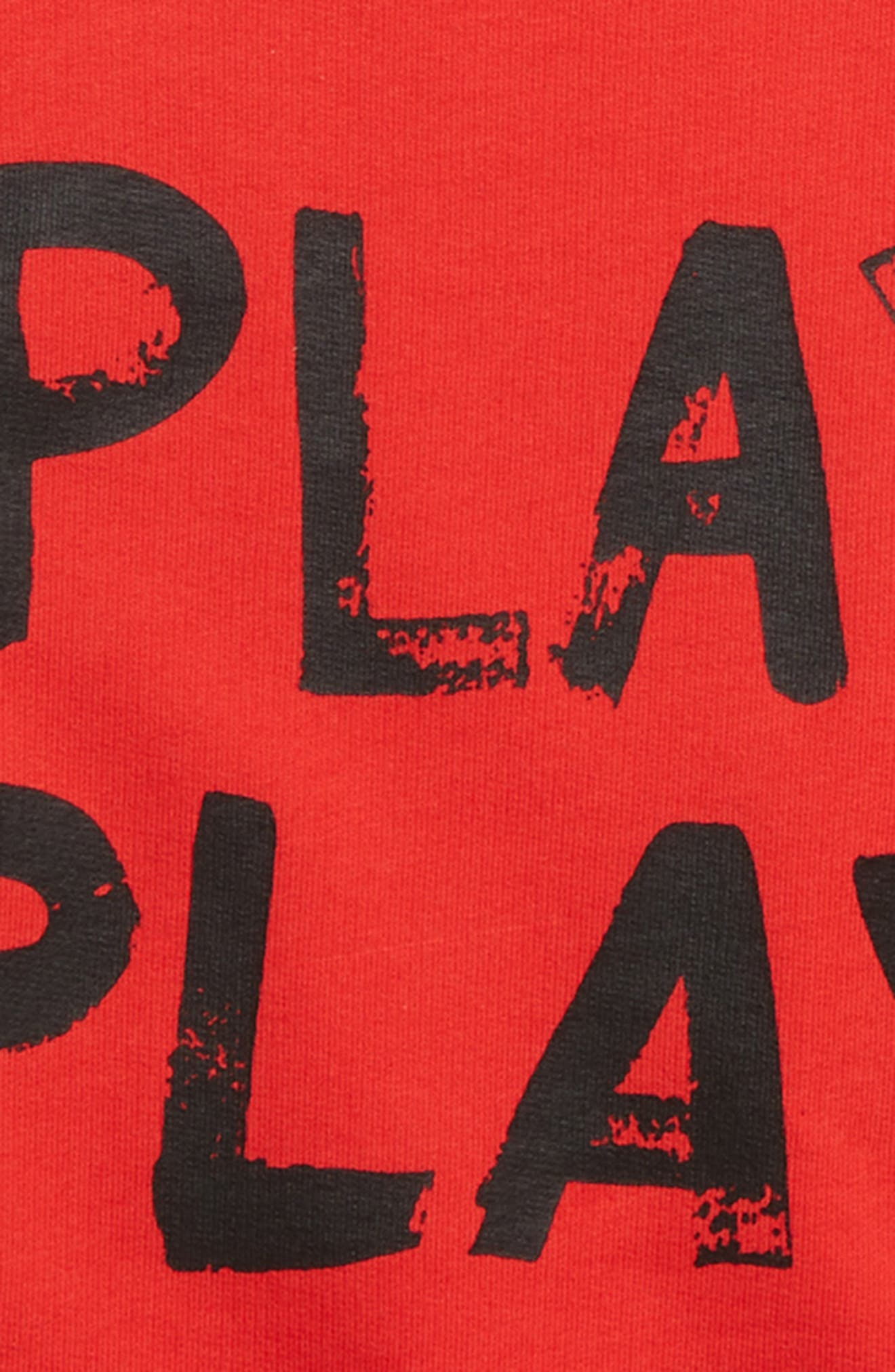 ,                             Print T-Shirt,                             Alternate thumbnail 2, color,                             RED BITTERSWEET PLAY OK