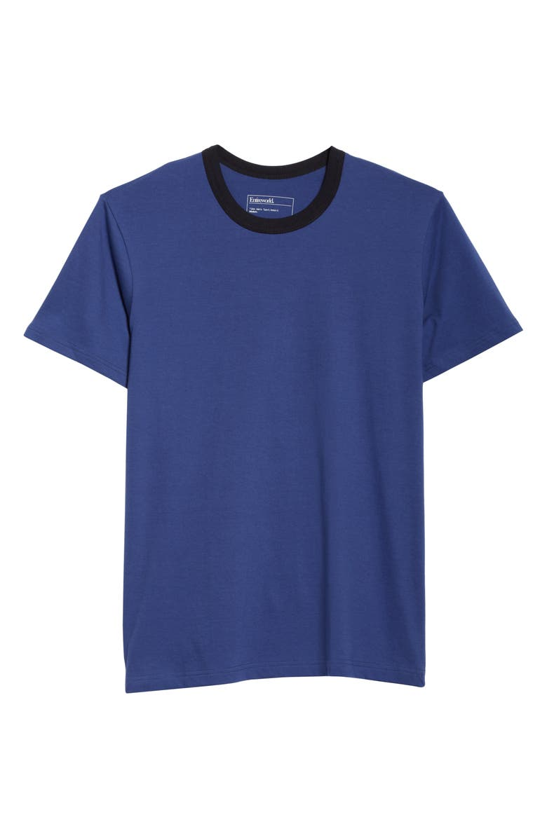 ENTIREWORLD Type A Version 4 Contrast Neck T-Shirt, Main, color, COBALT NAVY