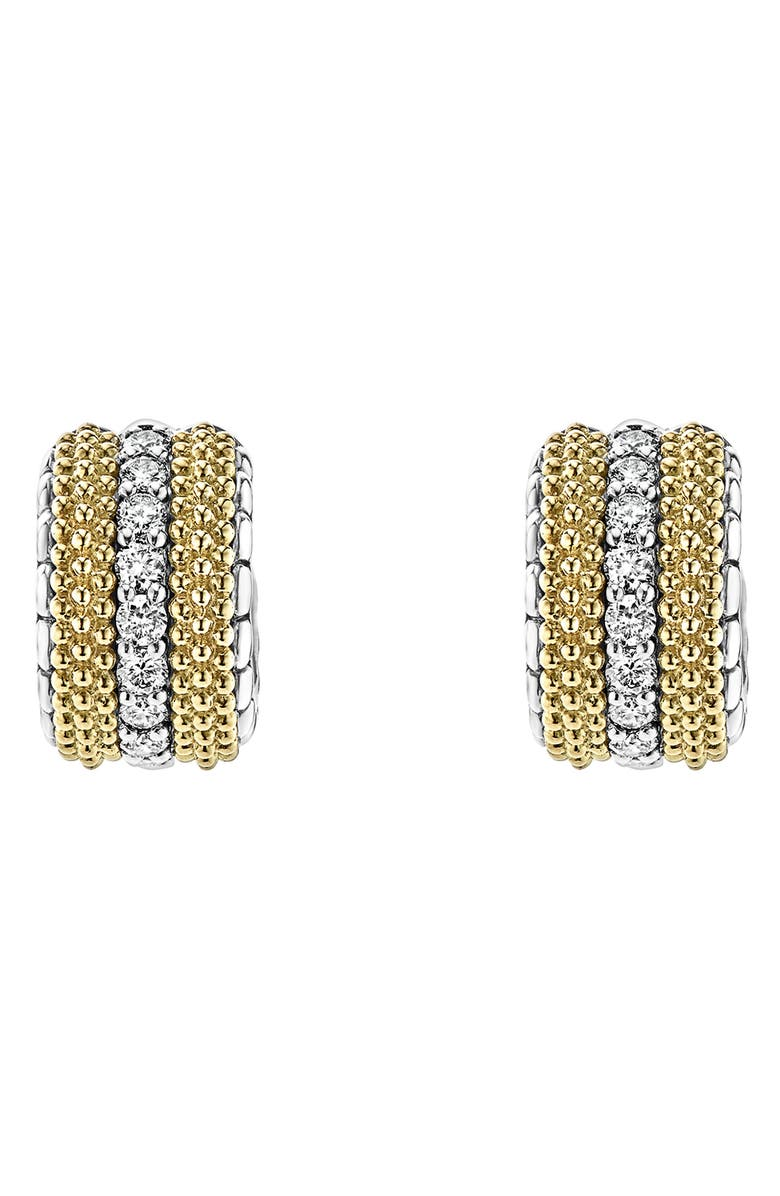LAGOS Lux Diamond Hoop Earrings, Main, color, 040