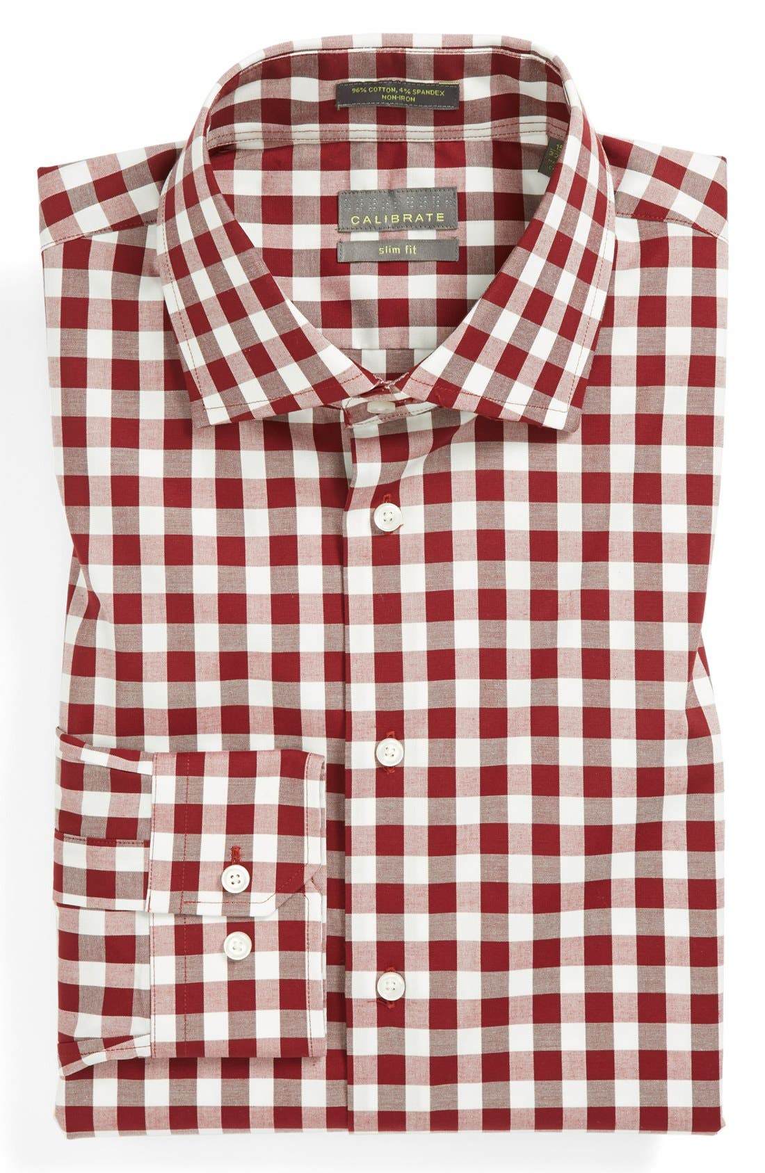 ,                             Slim Fit Non Iron Gingham Dress Shirt,                             Main thumbnail 23, color,                             641
