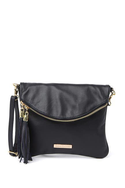Image of Anna Luchini Leather Shoulder Bag