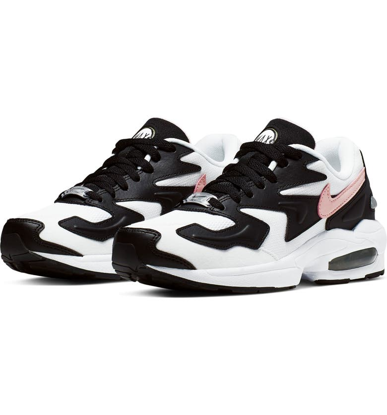 NIKE Air Max2 Light Sneaker, Main, color, WHITE/ CORAL/ BLACK