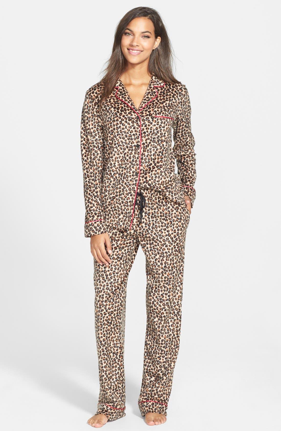 ,                             Long Sleeve Microfleece Pajamas,                             Alternate thumbnail 24, color,                             214