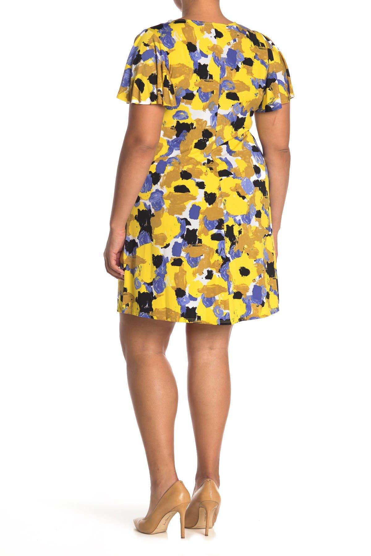 Image of TASH + SOPHIE Printed A-Line Dress