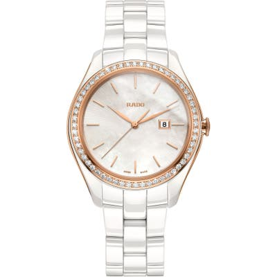 Rado Hyperchrome Automatic Diamond Ceramic Bracelet Watch,