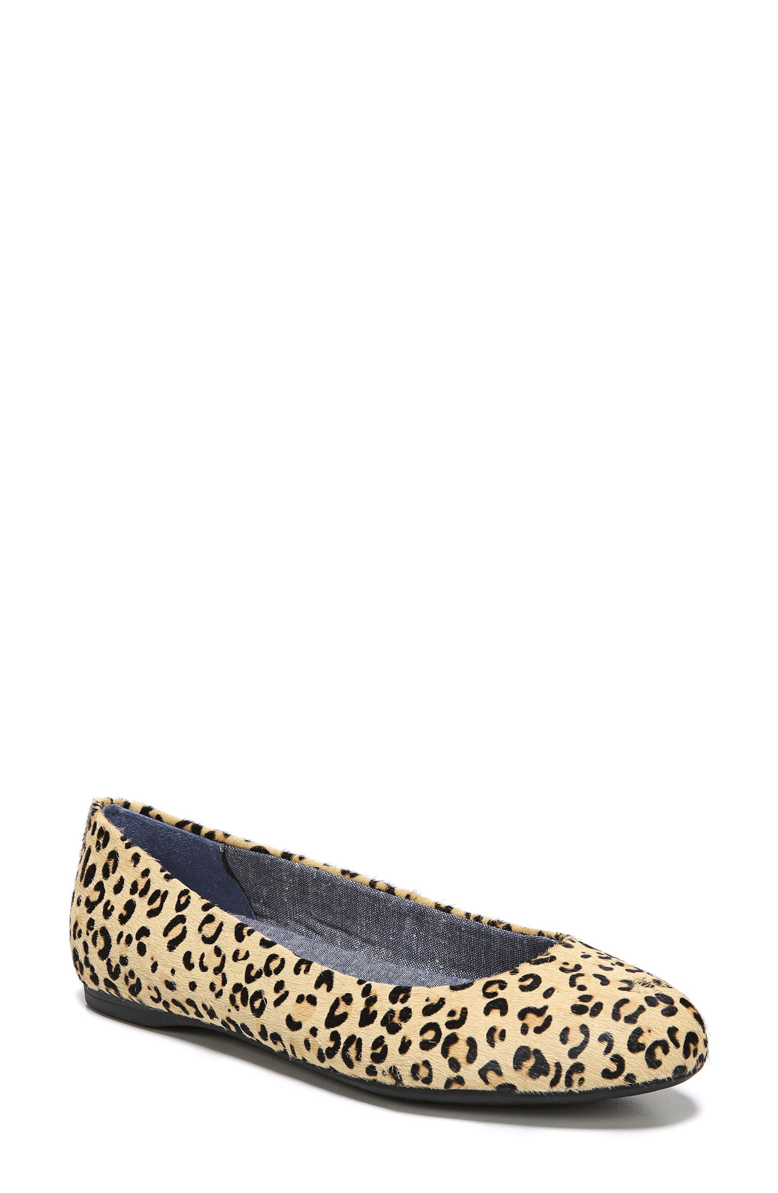 Giorgie Flat, Main, color, BLACK LEOPARD CALF HAIR