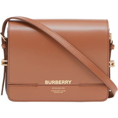 Burberry Small Grace Colorblock Leather Crossbody Bag - Brown