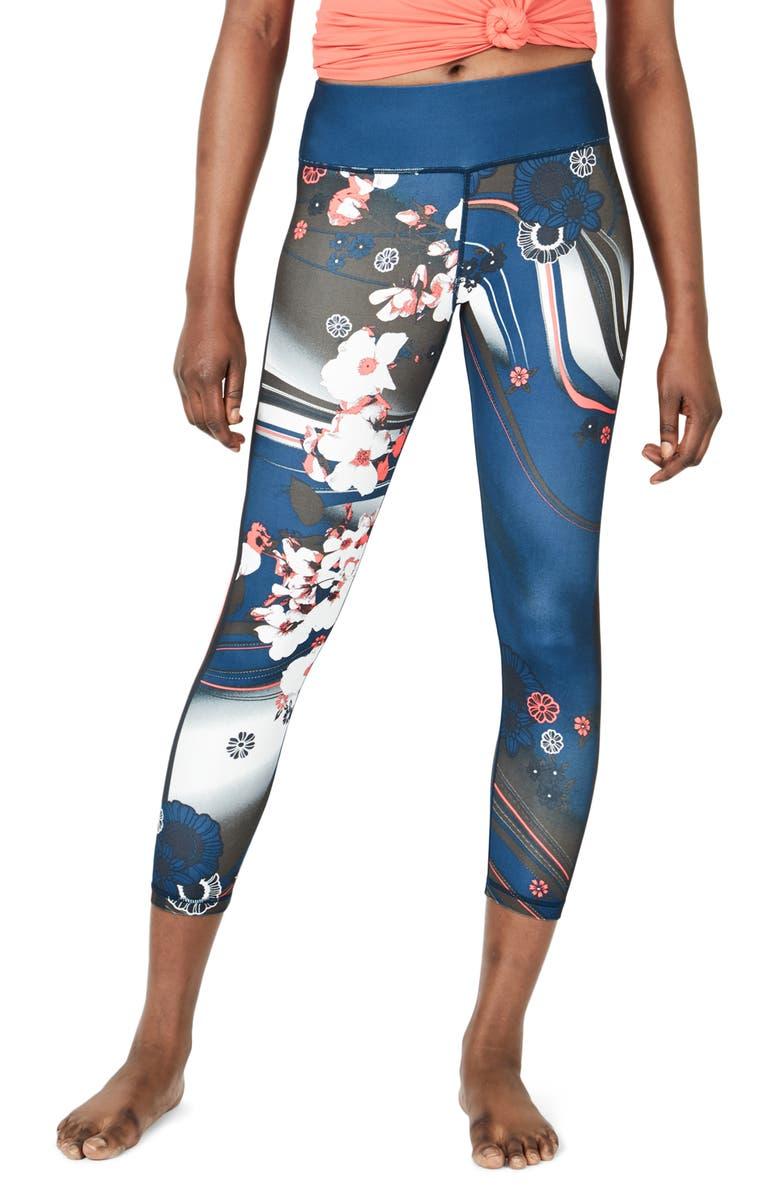 SWEATY BETTY Contour Leggings, Main, color, BEETLE BLUE MEMORIES PRINT