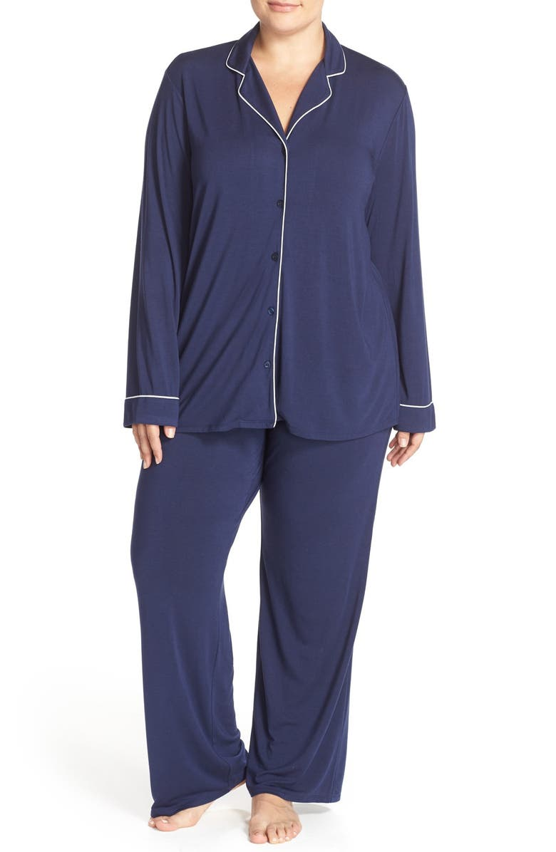 NORDSTROM LINGERIE Moonlight Pajamas, Main, color, NAVY PEACOAT