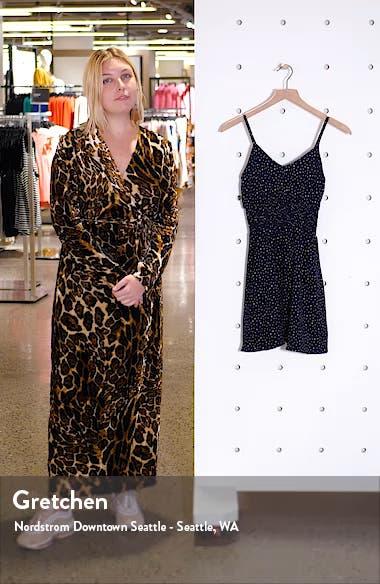 Print Smocked Waist Minidress, sales video thumbnail
