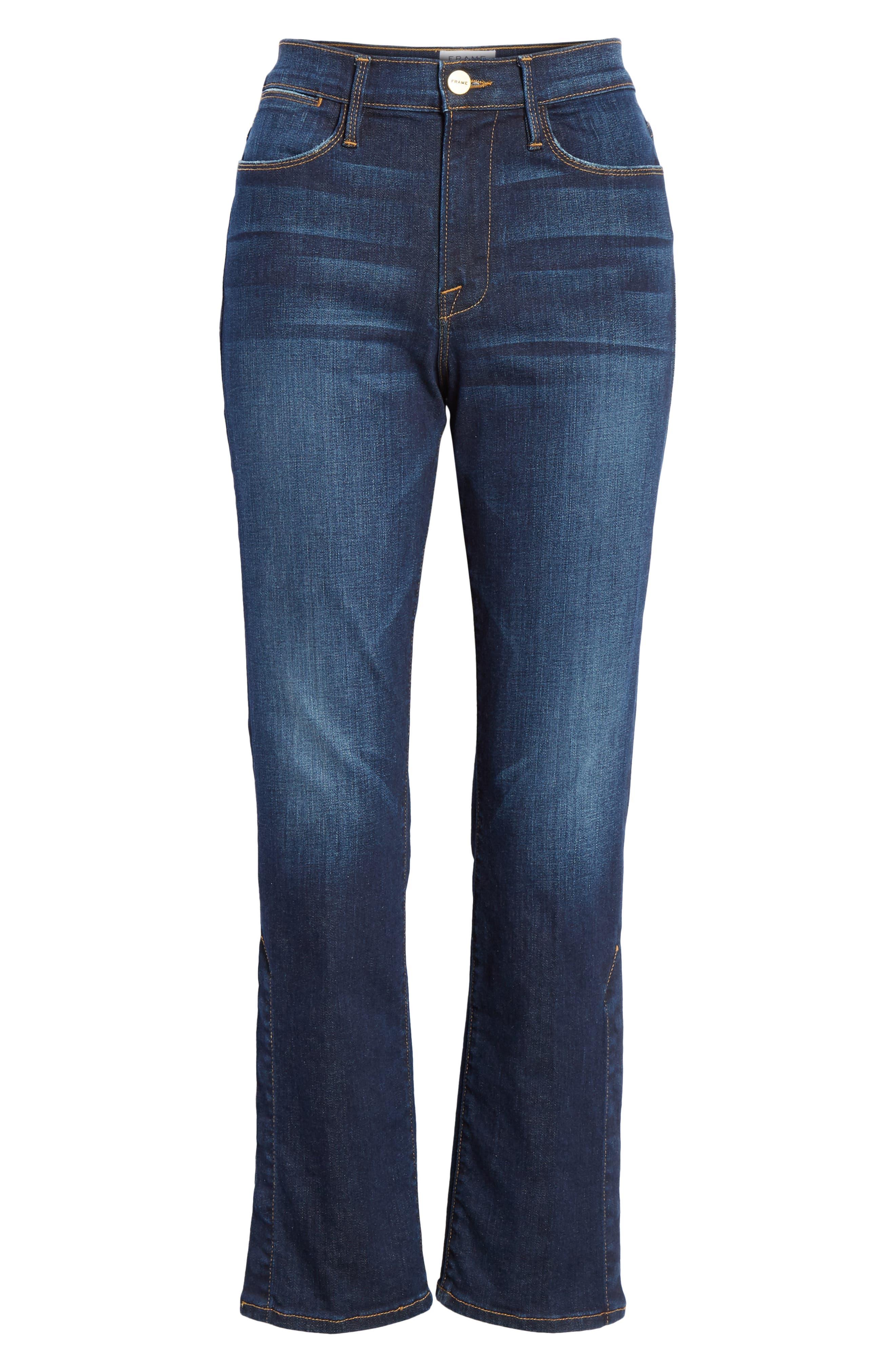 ,                             Le High Straight Snap Away Hem Jeans,                             Alternate thumbnail 7, color,                             401