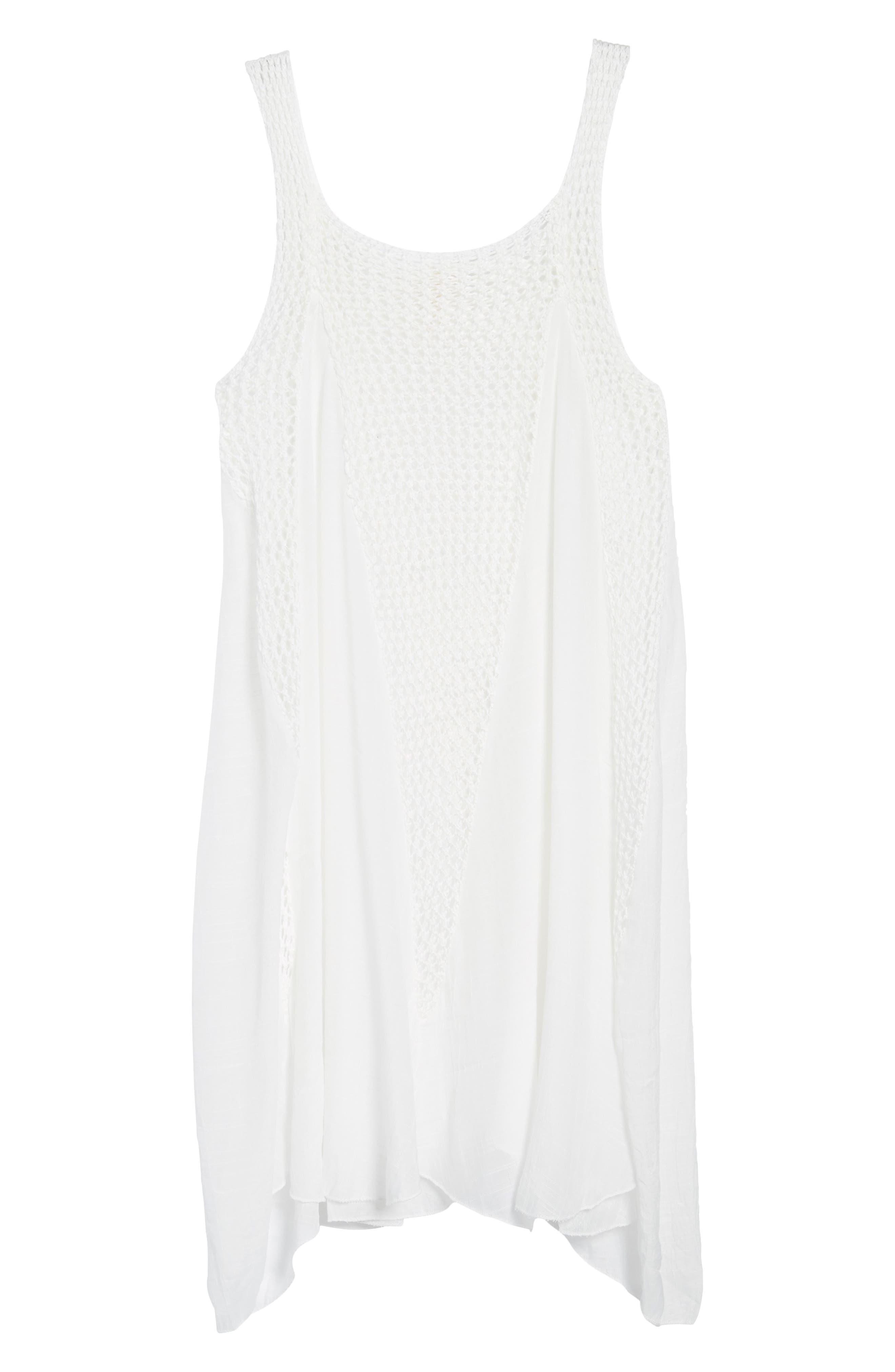 Crochet Inset Cover-Up Dress