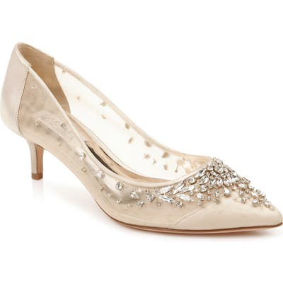 Badgley Mischka Onyx Kitten Heel Pump- Ivory