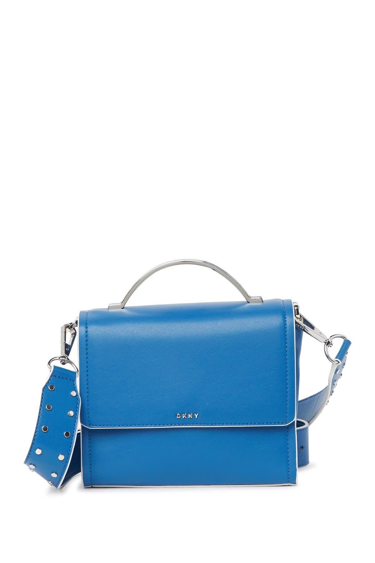 Image of DKNY Lane Studded Leather Crossbody Bag