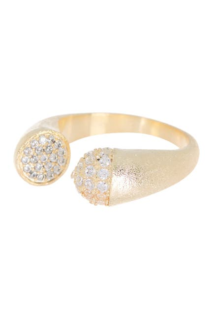 Image of Rivka Friedman 18K Gold Clad Pave CZ Bypass Ring