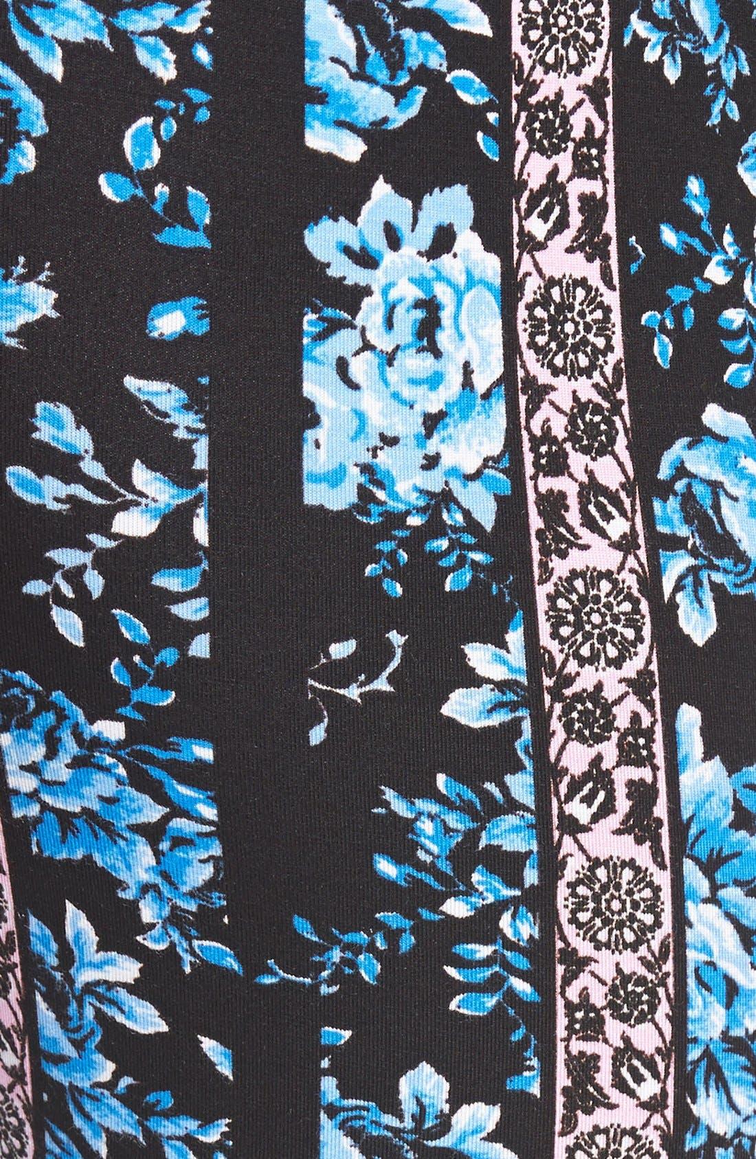 ,                             Mixed Print Flare Leg Pants,                             Alternate thumbnail 110, color,                             485