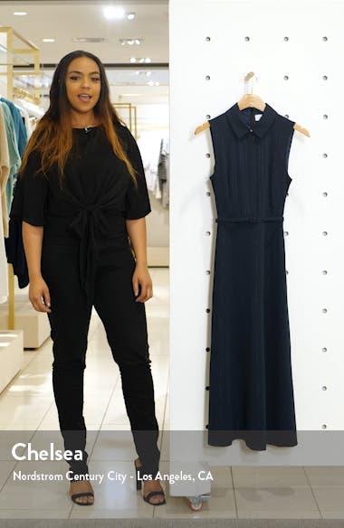 Pinstripe Midi Shirtdress, sales video thumbnail